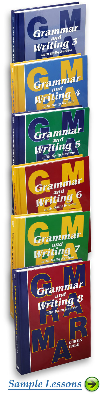 View Sample Lessons from the Grammar and Writing Series